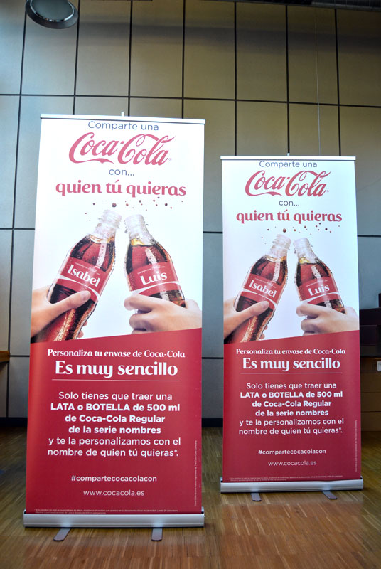 Roll Up Coca-Cola el estudio